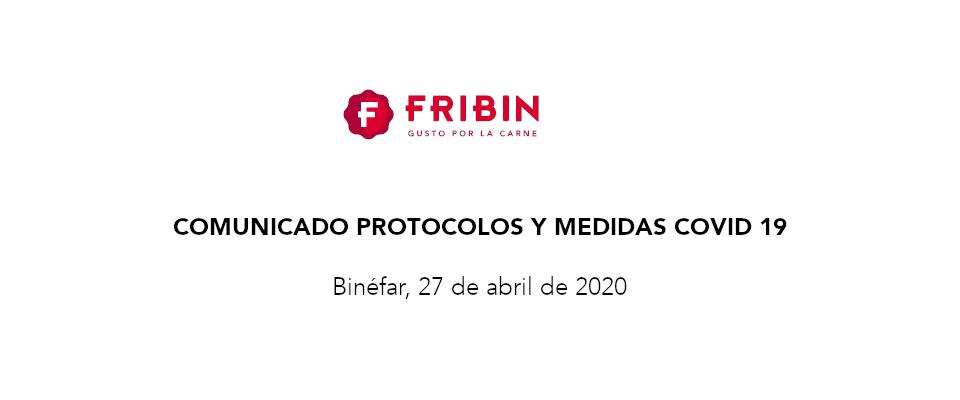 Comunicado Medidas Covid 19, 27 de abril de 2020