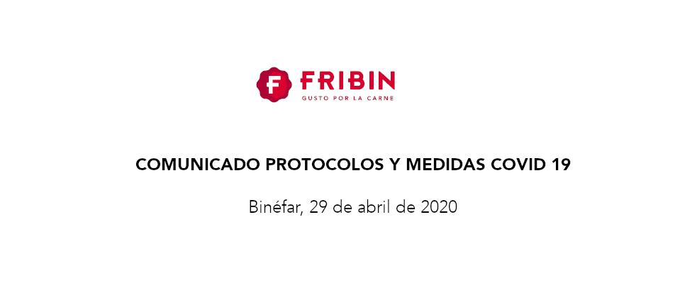 Comunicado Medidas Covid 19, 29 de abril de 2020