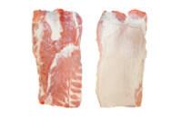 Pork belly sheet, ribbed, rindless